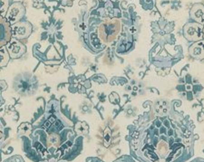 Kravet Saroukrug in Aquamarine Linen Designer Pillow Cover - Square  and  Euro Sizes