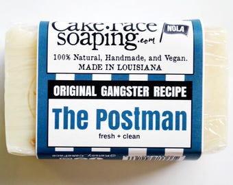 Fresh soap natural vegan soap bar masculine soap soap for men natural soap bar blue soap gift soap handmade soap handcrafted soap bar basil