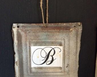 Antique Ceiling Tin initials
