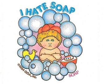 Vintage 1984 Cabbage Patch Kids SOAP Scratch and Sniff Sticker