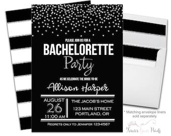 Bachelorette Party Invitation Printable or Printed - Bridal Shower Invitation - Bachelorette Invitation - Bridal Invitation - Confetti