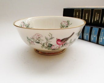 Lenox Serenade Bowl, Porcelain Nut Dish, Candy Dish, Lenox Decor, Gilded Dish, Gift for Mother, Cereal Bowl, Cottage Chic Decor