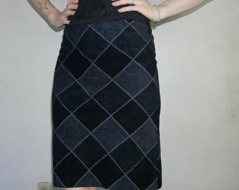 90s Patchwork diamond skirt size small