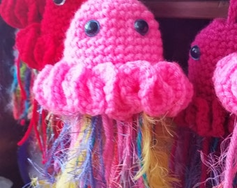 Groovy Crocheted Jellyfish Pouches