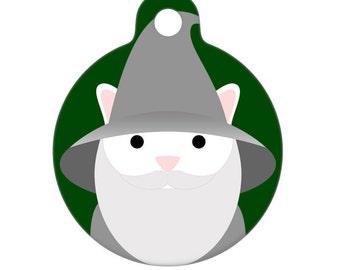Pet ID Tag - Gandalf Cat Pet Tag, Dog Tag, Cat Tag, Luggage Tag, Child ID Tag