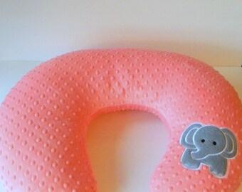 Boppy Cover, Elephant Boppy, Bobby Pillow Cover, Boppy Slipcover, Nursing Pillow Cover, Many Minky Colors, Boppy Cover Boy, Boppy Cover Girl