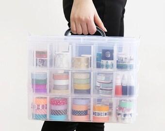 Masking Tape Planner Transparent Receive Box Medicine Box Stationery Receive Box