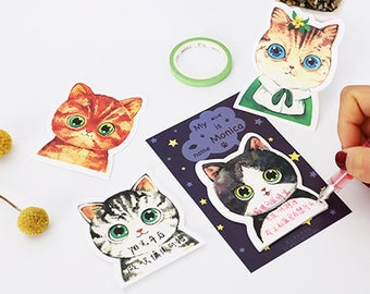 Cute Cat Sticky Notes - Stick Note Notepad Mini Notepad Post It