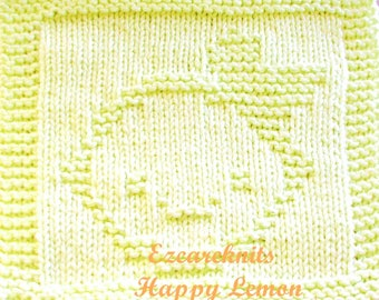 Knitting Cloth Pattern - HAPPY LEMON - PDF