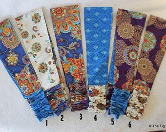 Fabric Headband Women Girls Reversible Hairband - Byzantine collection...Pick one