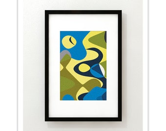 IMPRESSION no.3 - Giclee Print - Mid Century Modern Danish Modern Abstract Art Print