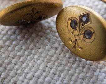 Antique cuff links, Art Nouveau cuff links,ladies or gents, Victorian, gold filled cuff links, early 1900's accessories,fashion accessories