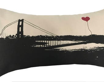 San Francisco Golden Gate Bridge Rectangular Canvas Throw Pillow