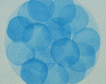 Blue Morula  - original watercolor - cell biology