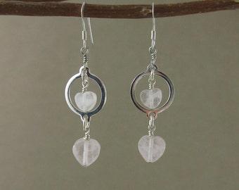 SALE! Universal Love earrings with Rose Quartz (100)