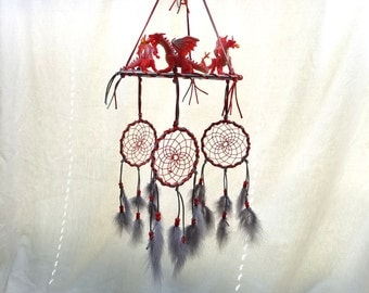 Dream Catcher Mobile , Red Dragons