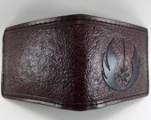 RESERVED:  Jedi Hand Tooled Leather Wallet