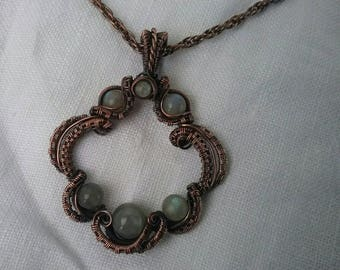 Labradorite in Copper pendant necklace