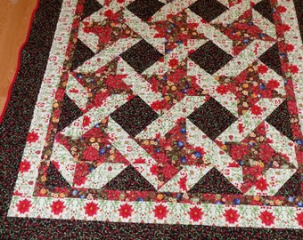 Christmas Star Lap Quilt 68 x 58