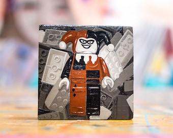 3x3 Lego Harley Quinn Painting