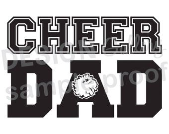 Cheer Dad - DIY Instant Download - JPG image & SVG cut - Printable Digital Iron On