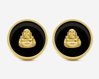 Yellow Gold Buddha Cufflinks