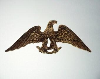 Antique Goldtone American Eagle Brooch Unsigned