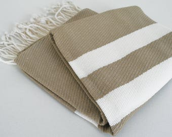 SALE 70 OFF/ Turkish Beach Bath Towel Peshtemal / Beige