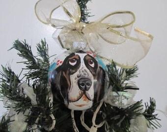 Ornament Hand Painted  Pet Portrait Animal  Cartoon Portrait  Likeness Custom  Personalized Cat Dog