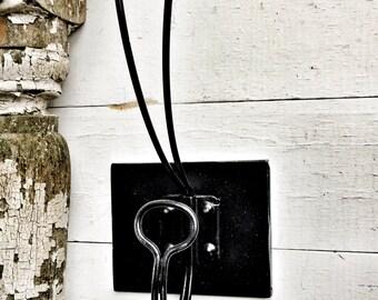 Black Coat Rack, Coat Hooks, Wall Hook Rack, Wall Hooks, Black Wall Hook, Vintage Coat Hook, Vintage Wall Hooks,  Black Decor, Wall Hooks
