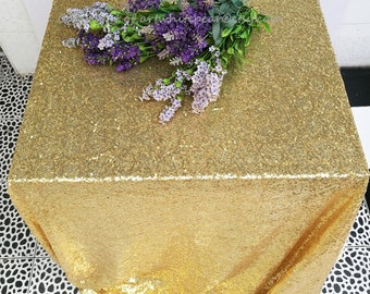 Light Gold Sequin Tablecloth,Wedding Glitz Overlay,Rectangle Round,Square,Party-Custom,23 colors,Table Runner,Photography Backdrop,FREE GIFT