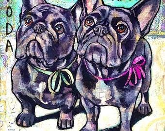 Custom Dog Leash Holder 6x6 2 Pets Leash Hook Dog Leash Collar Hook Pet Home Decor Dog Lover Gift Organizer Pet Art