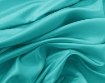 Silk satin Turquoise Tiffany Blue silk cheap Supplies Fabric by yard fabric Silk square bridal fabric Fat quarter silk materiral by the yard