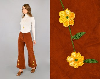 70's Embroidered Bellbottom Trousers