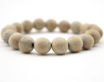Tibetan Buddhist 10mm x 10mm Wood Prayer Beads Mala Bracelet  XZ001