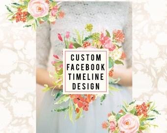 Facebook Page Design Facebook Timeline Cover and Facebook Badge Custom Facebook Set Facebook Branding Photography Branding Graphic Design