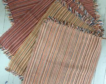 Four handwoven cotton/linen placemats