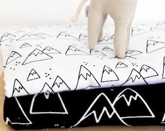 Fitted Crib sheet..Nordic Winter, mountain crib sheet, cot sheet, crib bedding