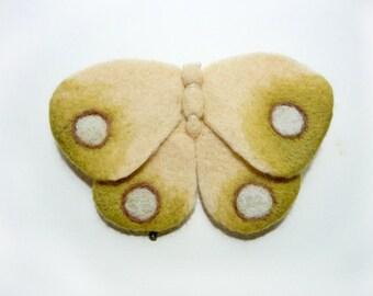"Brooch ""Pale moth"""