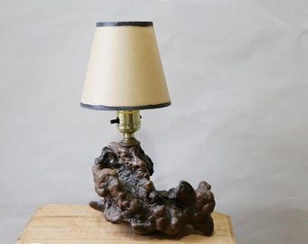 Handmade Burlwood Table Lamp
