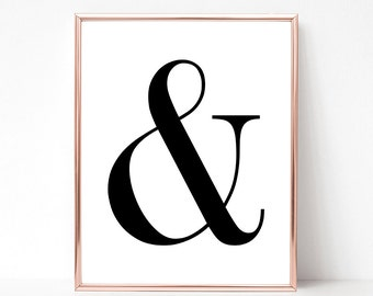 SALE -50% Ampersand Digital Print Instant Art INSTANT DOWNLOAD Printable Wall Decor