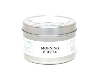 MORNING BREEZE - Travel Candle, Tin Candle, Soy Candle, Vegan, Natural Home Fragrance