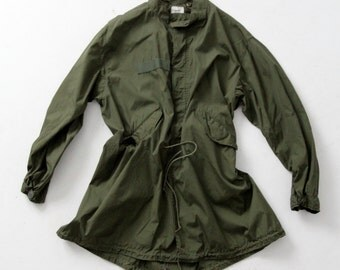 vintage Army jacket, XL men's jacket, parka extreme cold weather