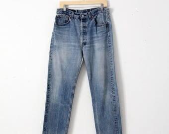 vintage 501xx Levi's denim jeans, Levis 501 jeans 33 x 30
