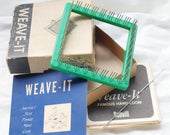 Weave-It Loom, Vintage, Square Loom, Original Box and Instructions, Peg Loom
