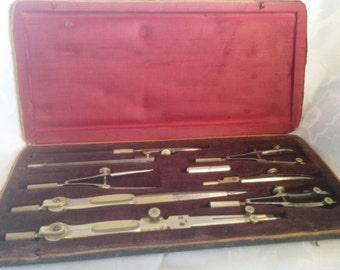 Vintage drafting tool kit Made in Japan