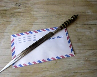 Vintage Letter Opener Mid Century Office Supply Graduation Gift