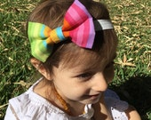 Girl Hair Bow - Rainbow