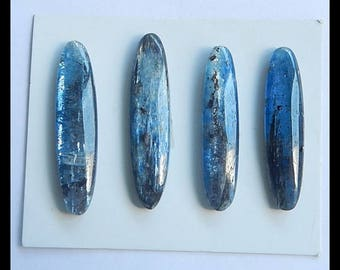 SALE,4 PCS Blue Kyanite Gemstone Cabochons,16.03g