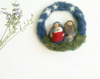 Holy Family - Nativity Large Wreath/ Wall hanging